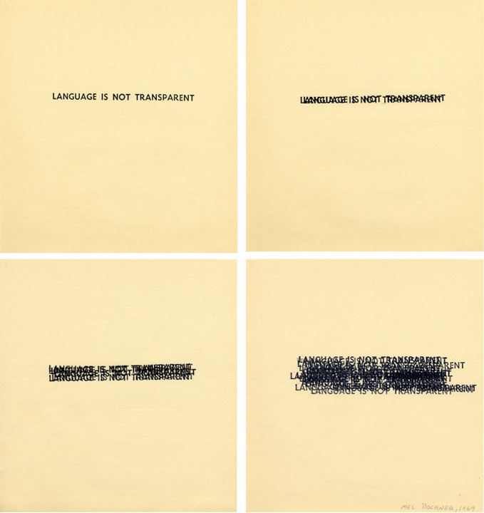 Mel Bochner, Language Is Not Transparent, 1969
