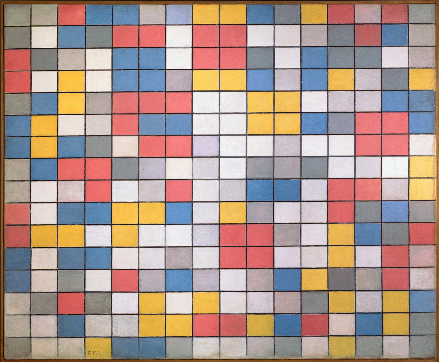 piet-mondrian-title-composition-with-grids-checkerboard