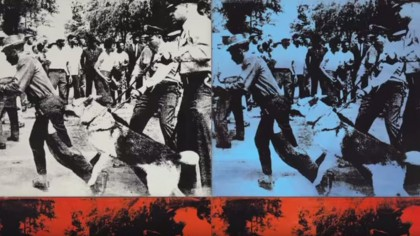 "Andy Warhol, ""Race Riot""."